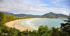 Bay of tropical ocean with the beach - Thailand, Phuket, Kamala