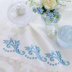disegno carta per fare il ricamo a punto croce disegnato sulla coppia asciugamani