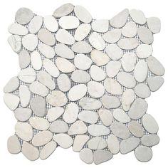 Sliced White Pebble Tile modern-bathroom-tile http://www.houzz.com/photos/14214374/Sliced-White-Pebble-Tile-modern-bathroom-tile