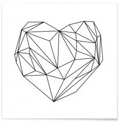 Heart Graphic - Premium Poster