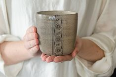 Ceramic tumbler, big coffee mug, white mug, minimalist pottery, studio pottery, stoneware tumbler, hand thrown cups, made for order