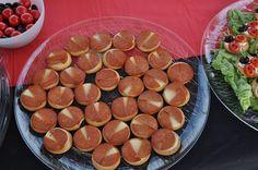 Biscoito salgados com salame