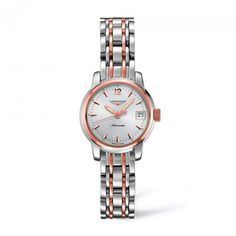 Lady's Longines Saint-Imier automatic in steel and rose gold cap. L2.263.5.72.7