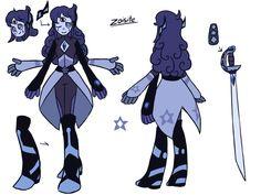 's Gemsona Celestite fuse with Melanite. Character Inspiration, Character Design, Steven Universe Oc, Anime Outfits, Rose Quartz, Healthy Food, Fanart, Sketches, Cartoon