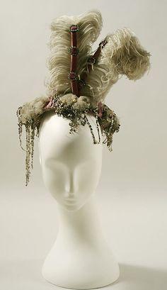 Hat, Evening  Date: 1895 Culture: American