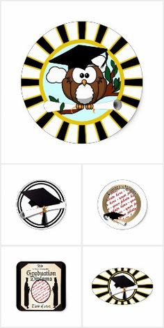 Graduation Stickers #Just4grad ! Check the variety of stickers available in several  shapes you can customize!