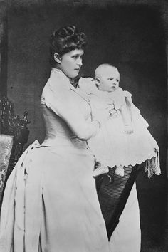 Irene, Princess Henry of Prussia, and her son, Prince Waldemar, 1889 [in Portraits of Royal Children Vol.37 1888-1889]   Royal Collection Trust