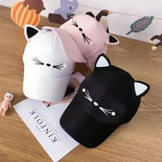 Elevate your style with these cute kawaii hats. Browse our collection of kawaii hats to match with your perfect outfit. Only the cutest hats can be found here! Check them out! HATS COMING SOON. Chat Kawaii, Mode Kawaii, Kawaii Fashion, Cute Fashion, Fashion Hats, 90s Fashion, Fashion Online, Fashion Women, Goth Outfit