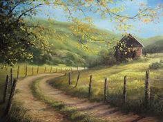 """""""Cabin on the Hilltop"""" Oil Painting by Kevin Hill Watch short oil painting lessons on YouTube: KevinOilPainting Visit my website: www.paintwithkevin.com Find me on Facebook: Kevin Hill Follow me on Twitter: @Kevin Hill"""