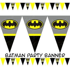 Batman Printable Pennant Bunting INSTANT DOWNLOAD by danilykewoah, $3.50