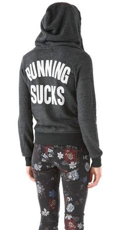 Wildfox Running Sucks Track Suit Jacket | SHOPBOP
