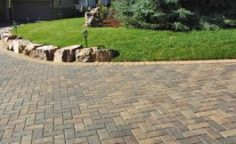 Stone and concrete pavers for your outdoor space Concrete Pavers, Patio, Stone, Outdoor Decor, Terrace, Rocks, 1st Birthdays, Courtyards, Stones