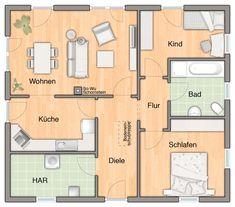 Schöner Grundriss für eine Doppelhaushälfte