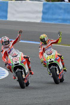 Hayden & Rossi - Ducati - MotoGP