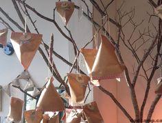 DIY Advent calendar tree #christmas #calendar #adveny