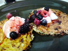 Cottage Cheese Pancakes with Oats and Flax