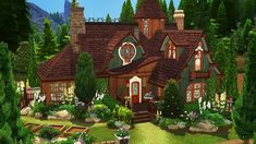 sims 4 house on water Sims 4 House Plans, Sims 4 House Building, Witch Cottage, Witch House, Sims 4 Family, Muebles Sims 4 Cc, Sims Four, Sims 3, Sims 4 House Design