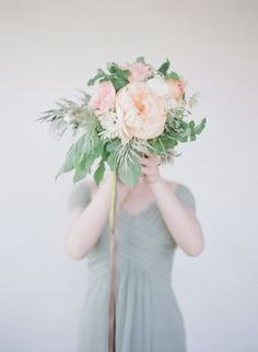 #peony #bouquet  Photography by elizabethmessina.com    Read more - http://www.stylemepretty.com/2013/08/15/ojai-valley-inn-spa-wedding-from-elizabeth-messina-photography/