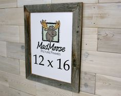 Barn Wood [Thin x Picture Frame . (aka old rustic distressed reclaimed gray barnwood 13 x 19 photo frame) 3 Picture Frame, Barn Wood Picture Frames, Nail Holes, Presents, Rustic, Handmade Gifts, Color, Etsy, Den