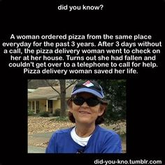 Moral of the story: eat pizza everyday! :)