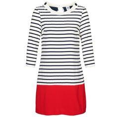 Schönes #minikleid von @VERO MODA mit langen Ärmeln. Perfekt für den angesagten #marinelook im #sommer. Jetzt zusammen mit einem Paar passender #schuhe versandkostenfrei auf @Spartoo.de bestellen! #damenmode #trends