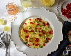 Pineapple Carpaccio with a wonderful ginger and chillie infused dressing that will make you love salads. Inspired by Gordon Ramsay.