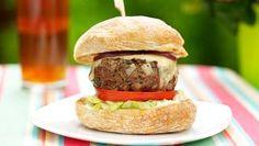Homemade beefburger