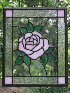 real stained glass | Stained Glass Rose Pink rose – stained glass – lee klade lee e ...