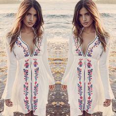 64d281a4cc Summer Women Bathing Suit Sexy Lace Crochet Bikini Swimwear Cover Up Beach  Dress… Bikini Beach