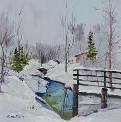 ARTFINDER: Lee Gulch by Richard Szkutnik - en plein air oil on panel