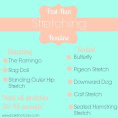 Post Run Stretches  #SFPMPT #health #stretch #running
