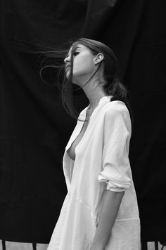 Chris Devour, Black and white beauty portrait