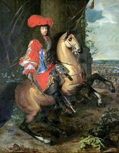 Equestrian portrait of Louis XIV by Charles le Brun Louis Xiv, French History, Art History, Grand Dauphin, Mode Rococo, Philippe De Champaigne, Ludwig Xiv, Bourbon, Chateau Versailles