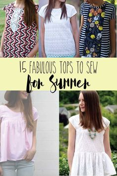15 Fabulous Tops to Sew for Summer - I love these!