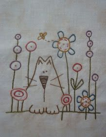 Bits From The Scrap Basket: Whimsical Finishes Primitive Embroidery Patterns, Bird Embroidery, Flower Embroidery Designs, Modern Embroidery, Cross Stitch Embroidery, Rock Painting Designs, Applique Quilts, Chinoiserie, Needlework