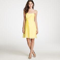 Leona dress in silk chiffon from JCrew- my Preakness dress! I bought it in pink... duh.