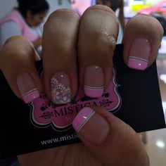 Toe Nails, Pink Nails, Valentine Nail Art, Nails 2017, Bride Nails, Pink Nail Designs, Nail Patterns, French Tip Nails, Super Nails