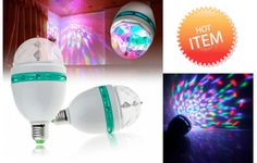 2x LED Full Color Rotation Lamp - Margedeals 24HRS Daily Deals