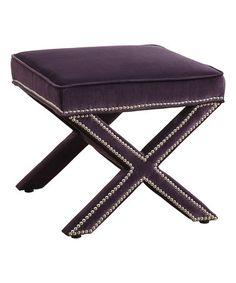 Loving this Purple Reese Velvet Ottoman on #zulily! #zulilyfinds $149.99