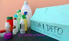 Giochi fai da te per bambini: Trova il tappo DIY Kids Toy: Find the lid Su e giu per la Pianura Padana
