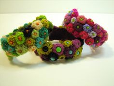 bracelets crocheted flowers