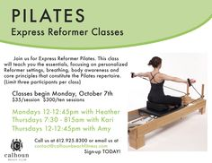 Try our all new Pilates Reformer Express class!