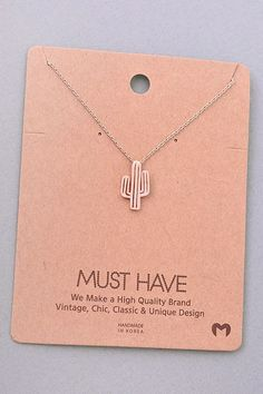 Cactus Pendant Necklace - Rose Gold - I love this necklace! It recently broke. Now I can get a new one ❤❤❤