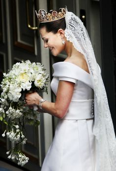 Crown Princess Victoria of Sweden #RoyalSerendipity #royal #wedding #bride