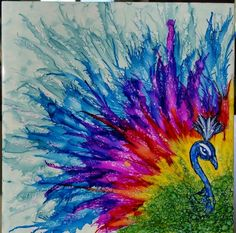 Peacock for Nicole in alcohol ink on tile by tina Alcohol Ink Tiles, Alcohol Ink Crafts, Alcohol Ink Painting, Sharpie Art, Sharpies, Peacock Painting, Painting & Drawing, Watercolor Art, Art Projects