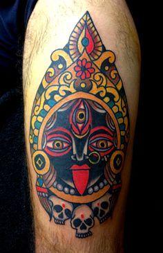robertryanofjudah:  Jaya Mata Kali Ma!!! Robert Ryan- Electric Tattoo- New Jersey 2013 Om Jayanti Mangalaa Kaali Bhadrakaali Kapaalini Durgaa Shamaa Shivaa Dhatri Swahaa Swadhaa namostute  ..: colour! :..