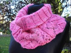Your place to buy and sell all things handmade Polo Neck, Long Scarf, Neck Warmer, Bright Pink, Hand Knitting, Cowl, Jumper, Silk, Crochet
