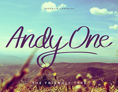 "Check out new work on my @Behance portfolio: ""Andy One Font"" http://be.net/gallery/64391523/Andy-One-Font"