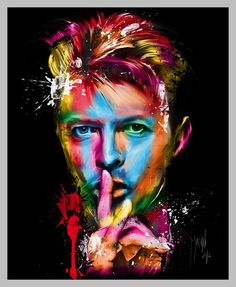 Colorful David Bowie #   Multi-coloured Visuals by Patrice Murciano