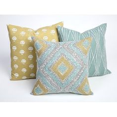 Yellow Seafoam Designer Pillow Cover Decorator Pillow Cover Robert... (€18) ❤ liked on Polyvore featuring home, home decor, throw pillows, decorative pillows, home & living, home décor, silver, yellow toss pillows, yellow home decor and leaf throw pillows